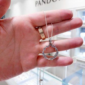 💝Pandora Shine Fragment 925 Silver Necklace 19.7